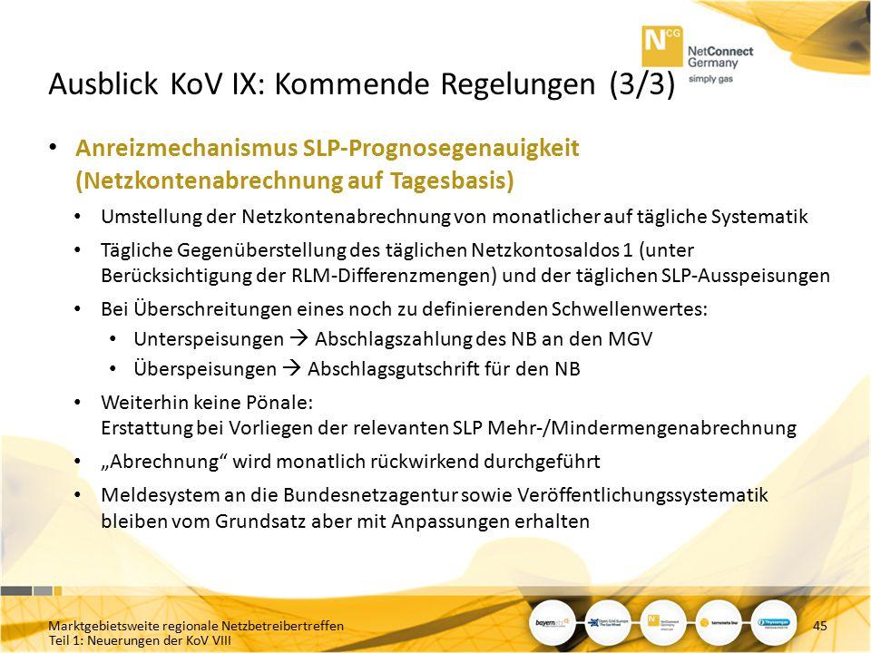 Ausblick KoV IX: Kommende Regelungen (3/3)