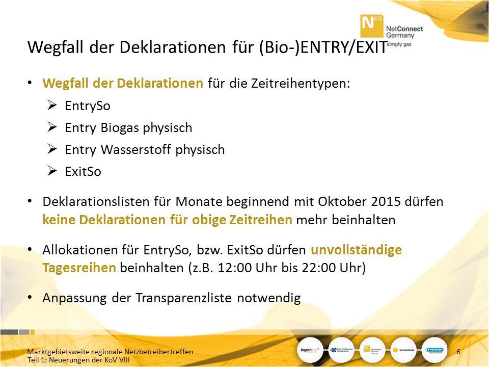 Wegfall der Deklarationen für (Bio-)ENTRY/EXIT