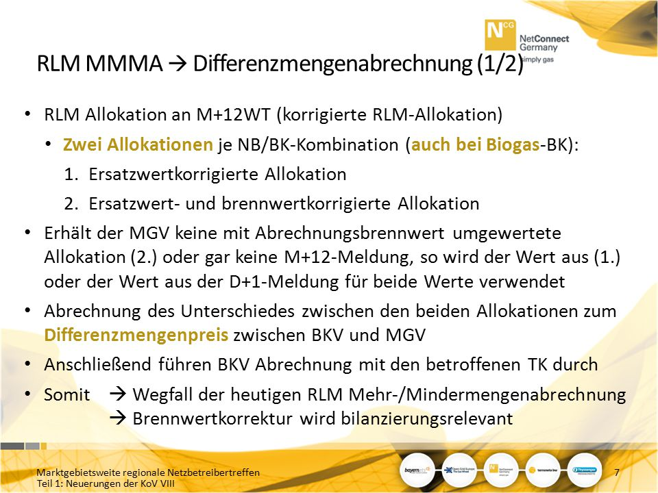 RLM MMMA  Differenzmengenabrechnung (1/2)