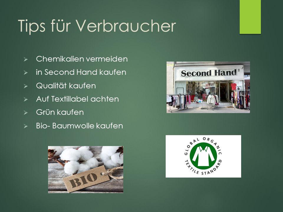 Tips für Verbraucher Chemikalien vermeiden in Second Hand kaufen