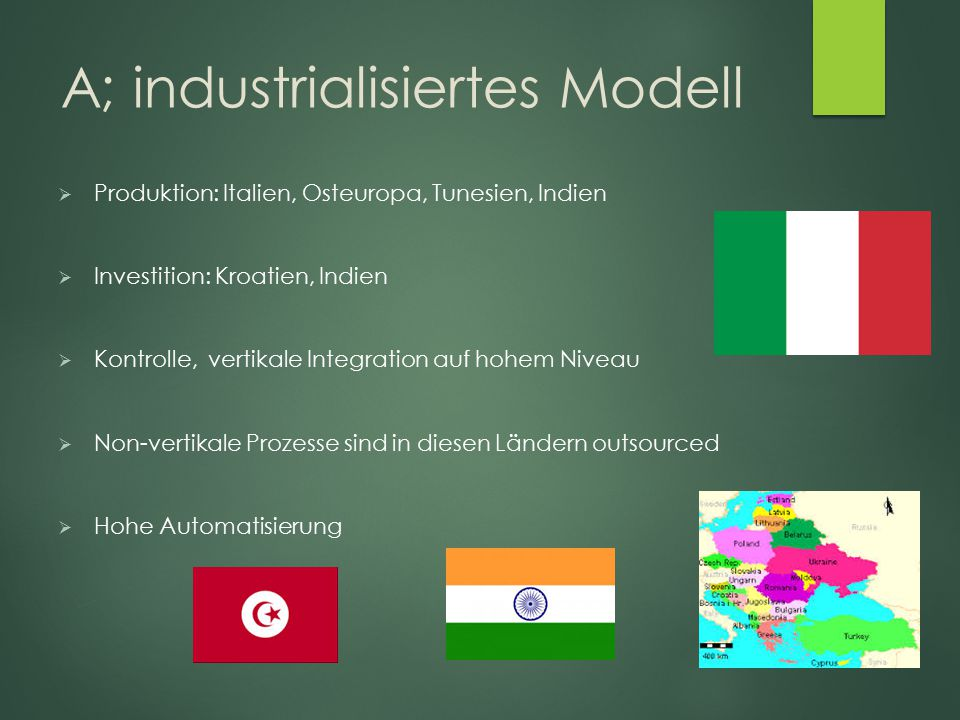 A; industrialisiertes Modell