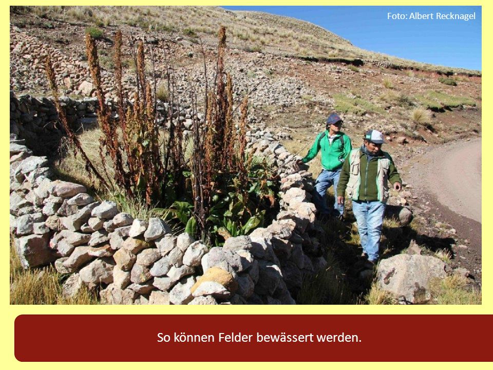 So können Felder bewässert werden.