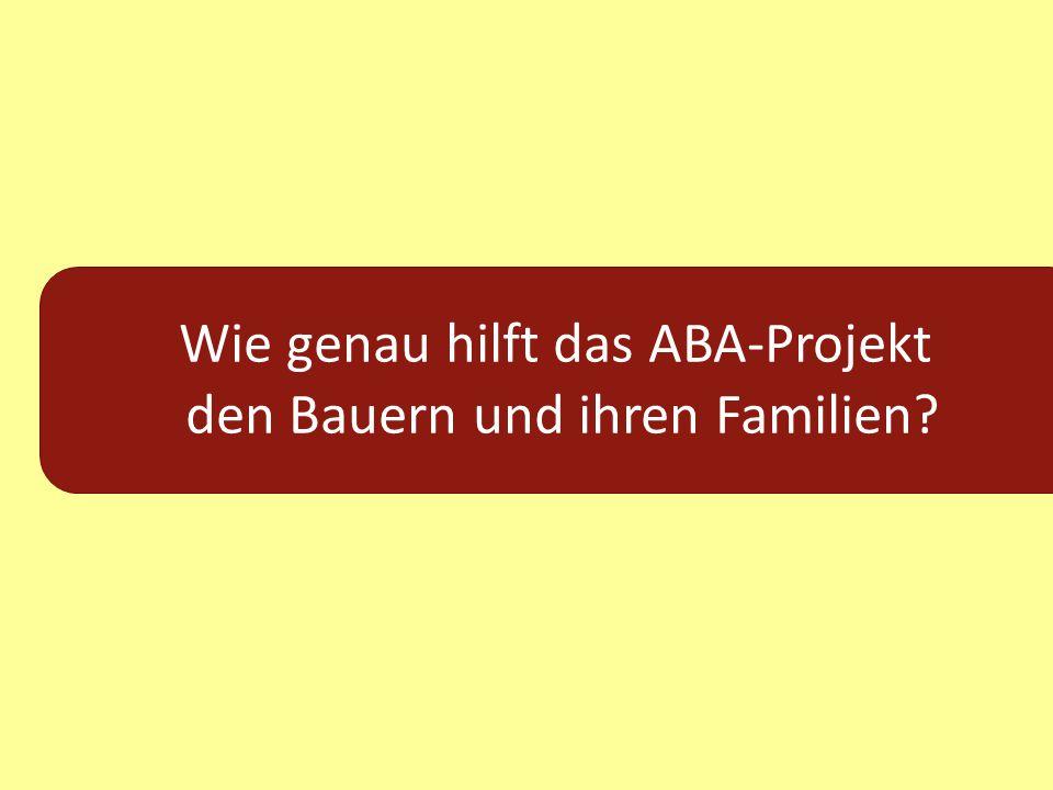 Wie genau hilft das ABA-Projekt den Bauern und ihren Familien