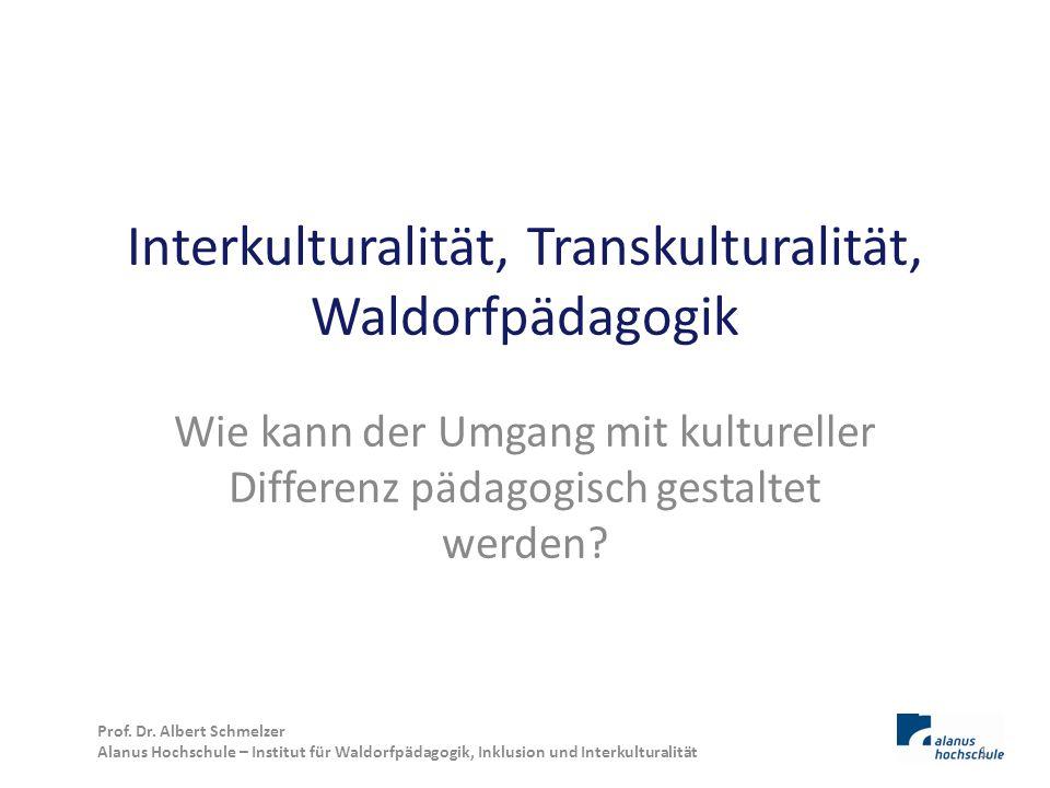 Interkulturalität, Transkulturalität, Waldorfpädagogik