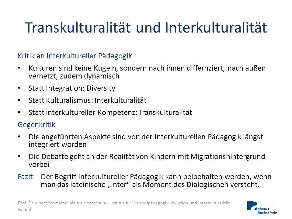 Transkulturalität und Interkulturalität