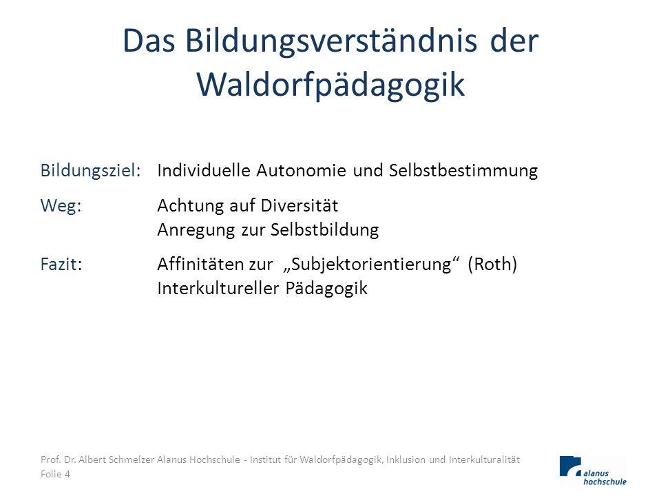 Das Bildungsverständnis der Waldorfpädagogik