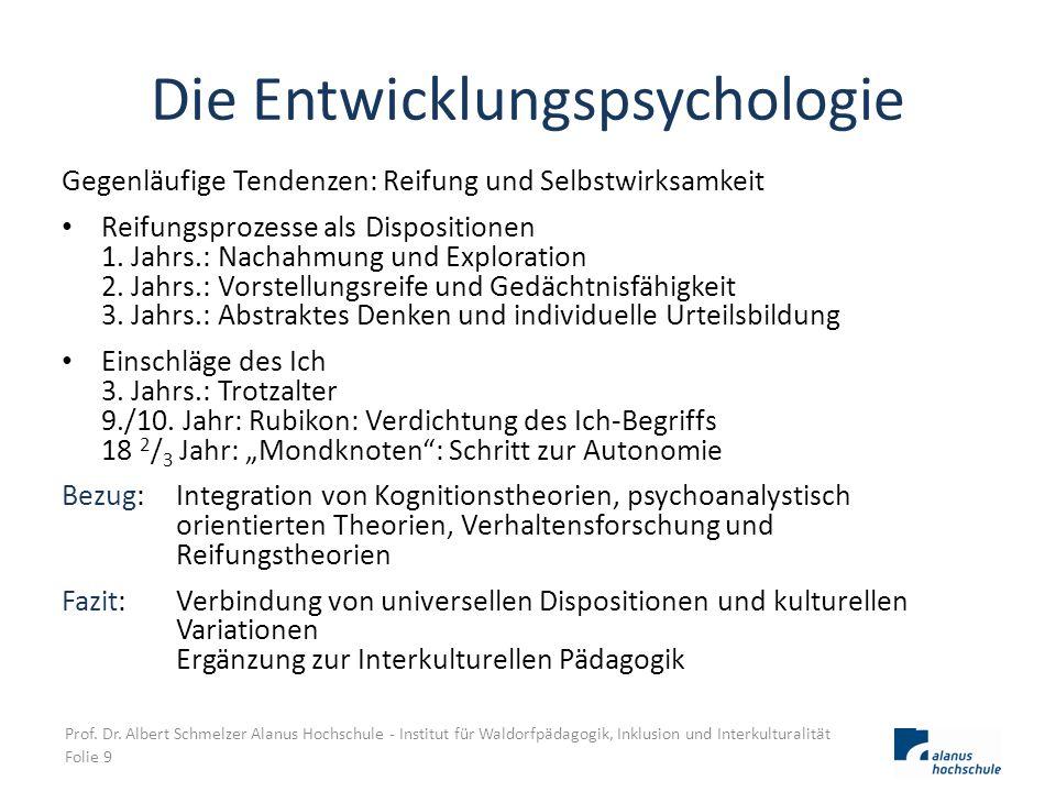 Die Entwicklungspsychologie