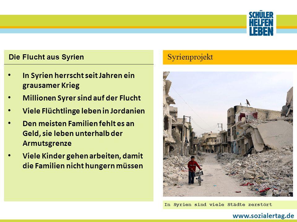 In Syrien herrscht seit Jahren ein grausamer Krieg
