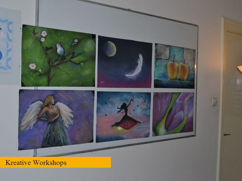 Durch das Malen von Bildern können die Jugendliche Ihre Erlebnisse und Gefühle besser auszudrücken. In professionellen Workshops erlernen sie die Fähigkeiten und Techniken für das Malen und Zeichnen von Bildern, welche später auch ausgestellt werden.