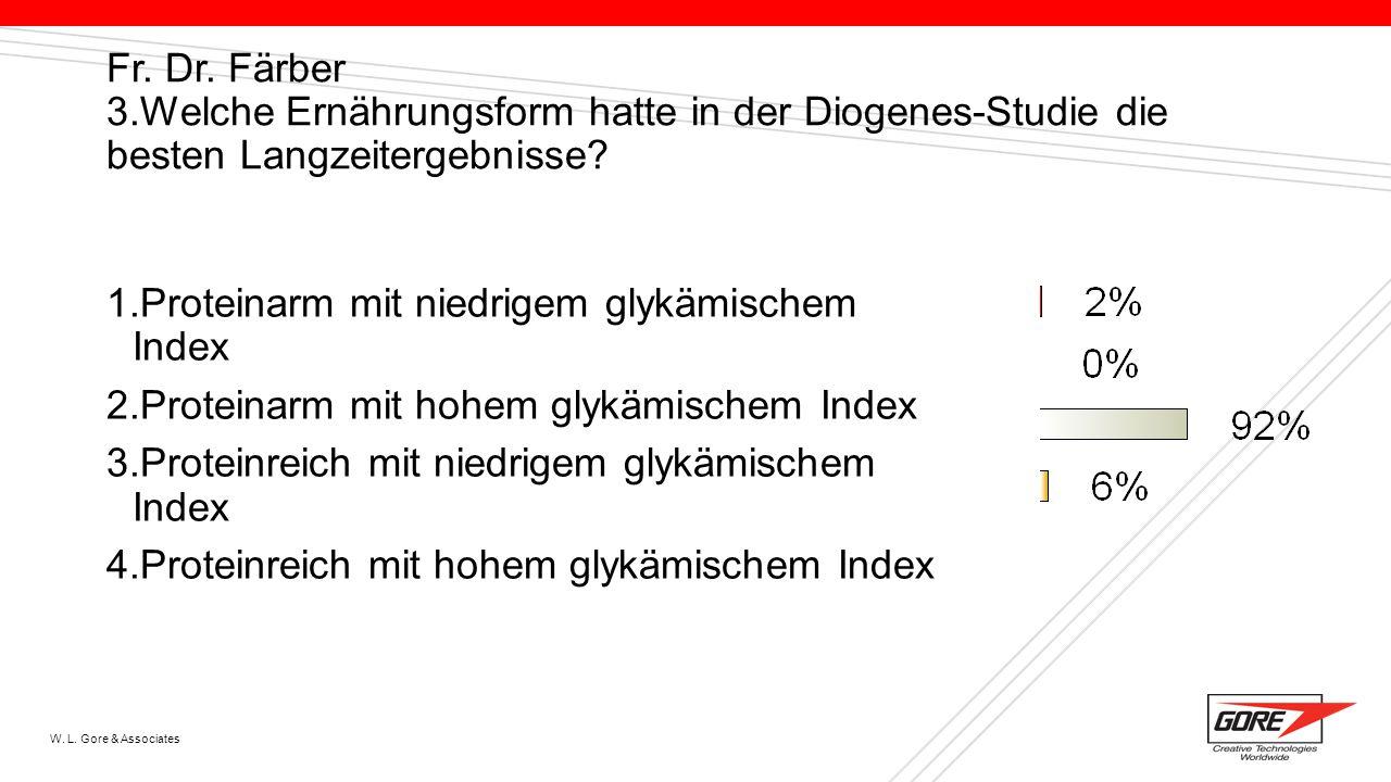 Proteinarm mit niedrigem glykämischem Index
