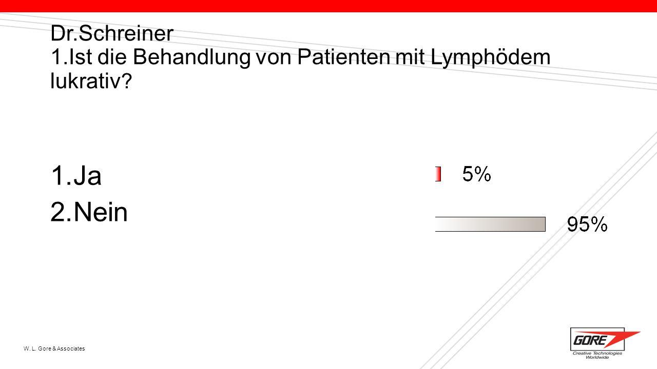 Dr.Schreiner 1.Ist die Behandlung von Patienten mit Lymphödem lukrativ