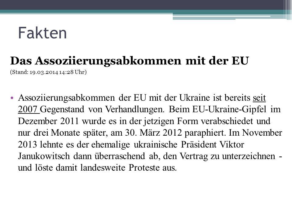 Fakten Das Assoziierungsabkommen mit der EU