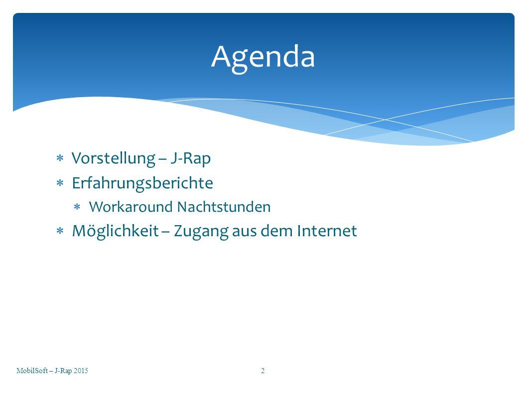 Agenda Vorstellung – J-Rap Erfahrungsberichte