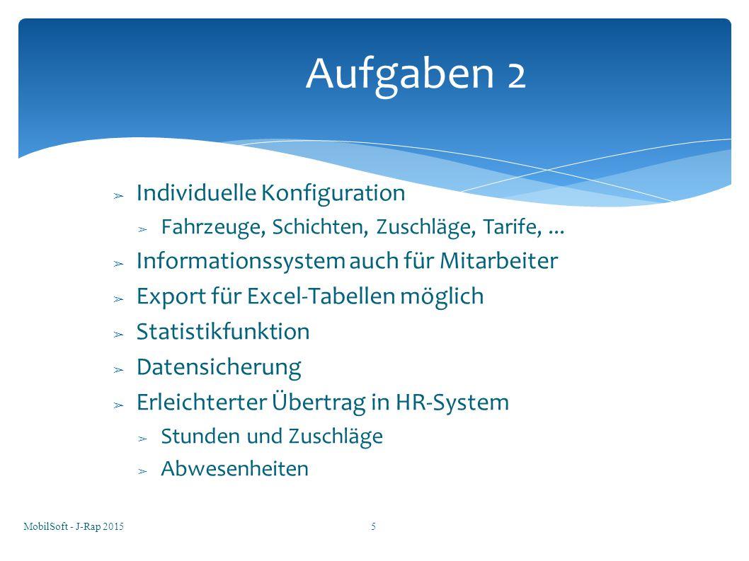 Aufgaben 2 Individuelle Konfiguration