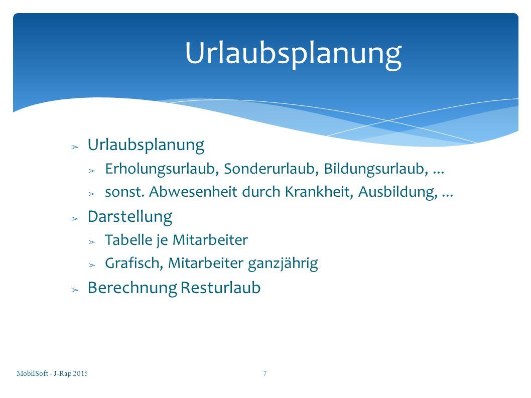 Urlaubsplanung Urlaubsplanung Darstellung Berechnung Resturlaub