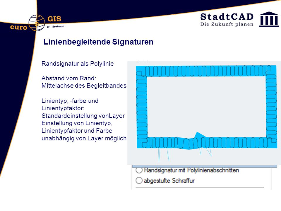 Linienbegleitende Signaturen