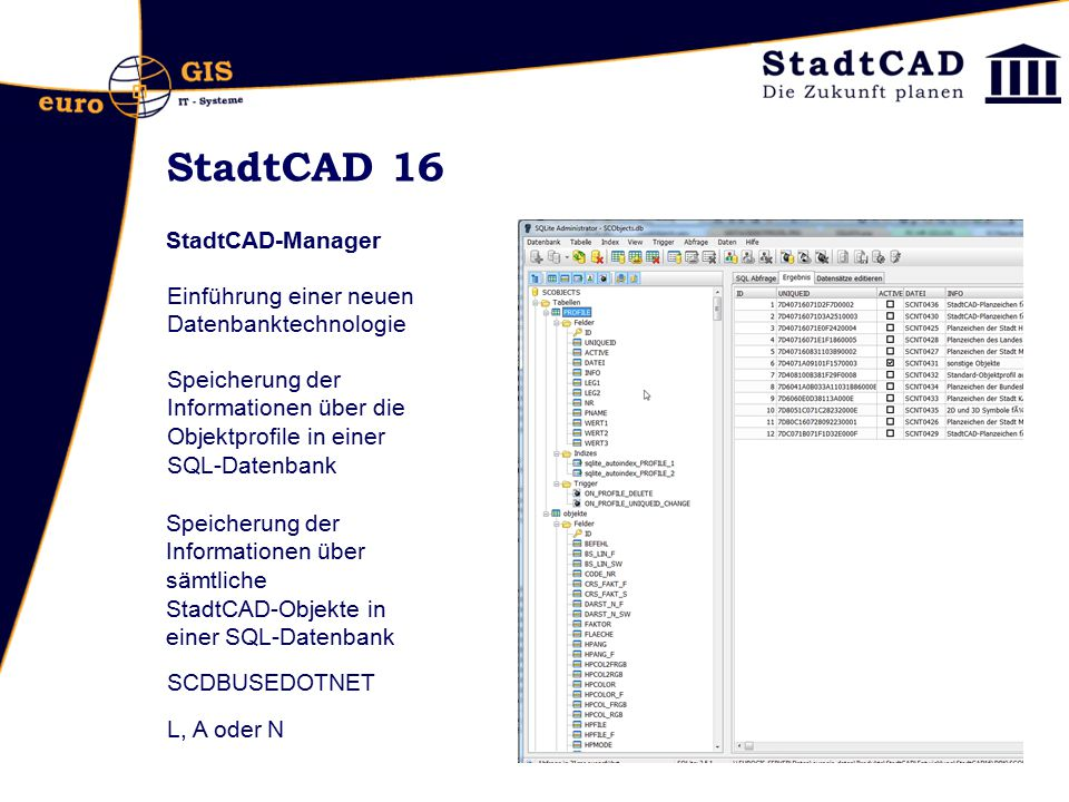 StadtCAD 16 StadtCAD-Manager
