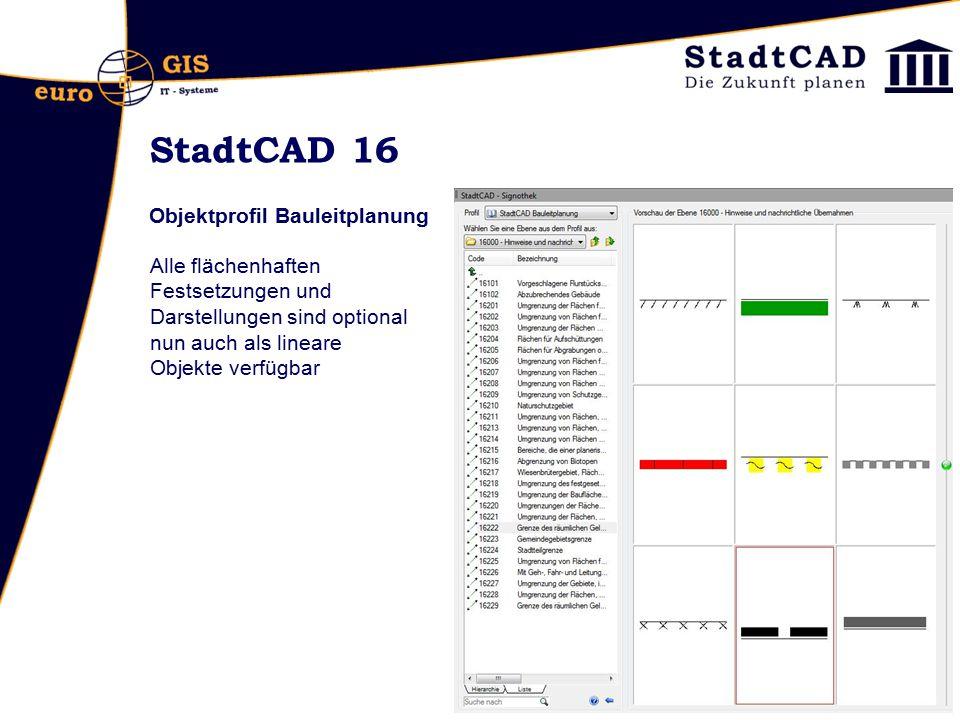 StadtCAD 16 Objektprofil Bauleitplanung