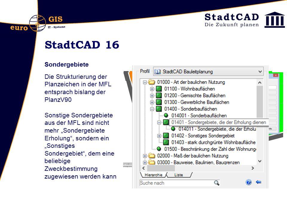 StadtCAD 16 Sondergebiete