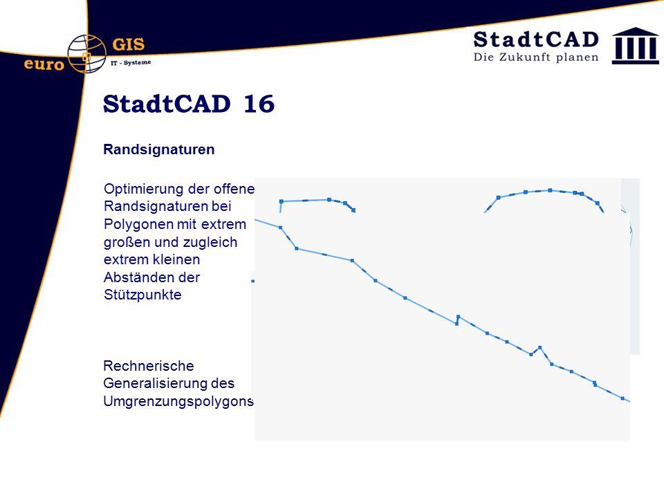 StadtCAD 16 Randsignaturen