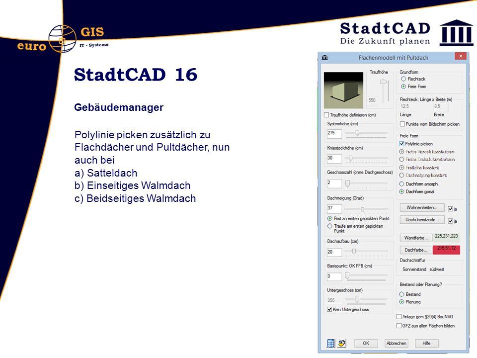 StadtCAD 16 Gebäudemanager