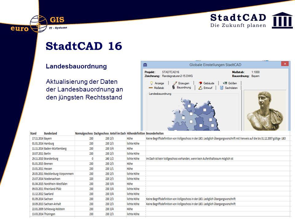 StadtCAD 16 Landesbauordnung