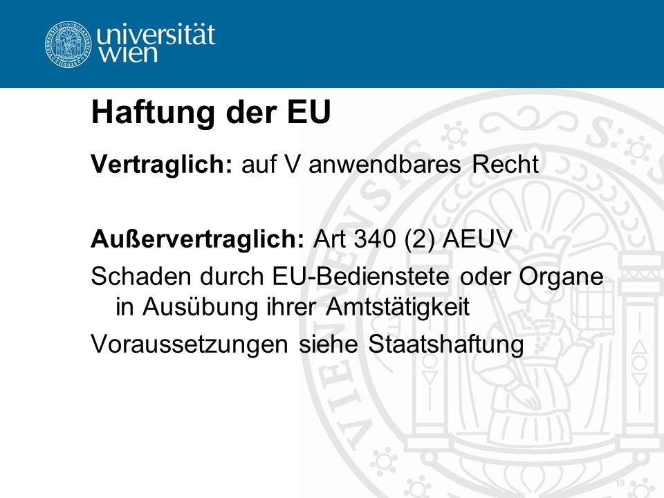 Haftung der EU