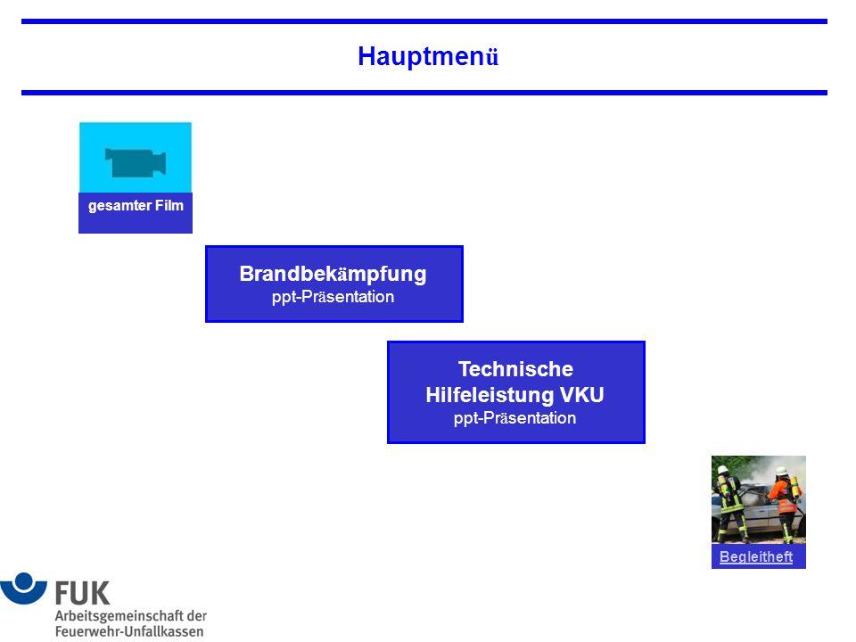Hauptmenü Brandbekämpfung ppt-Präsentation