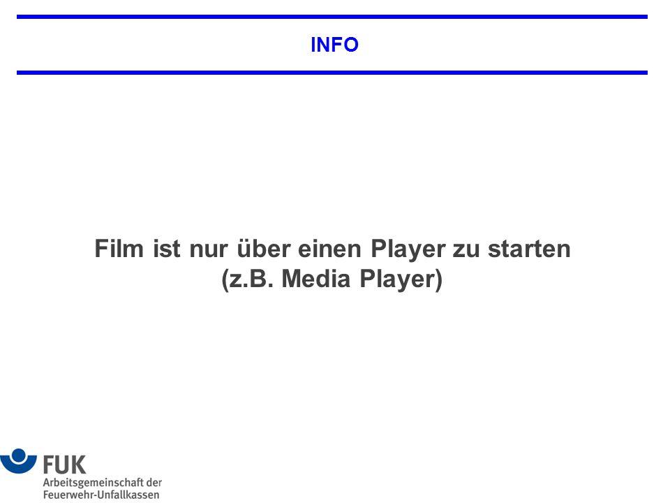 Film ist nur über einen Player zu starten