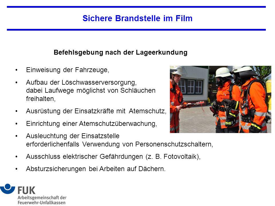 Sichere Brandstelle im Film