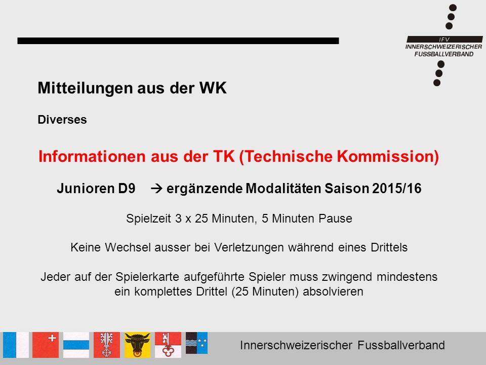 Informationen aus der TK (Technische Kommission)