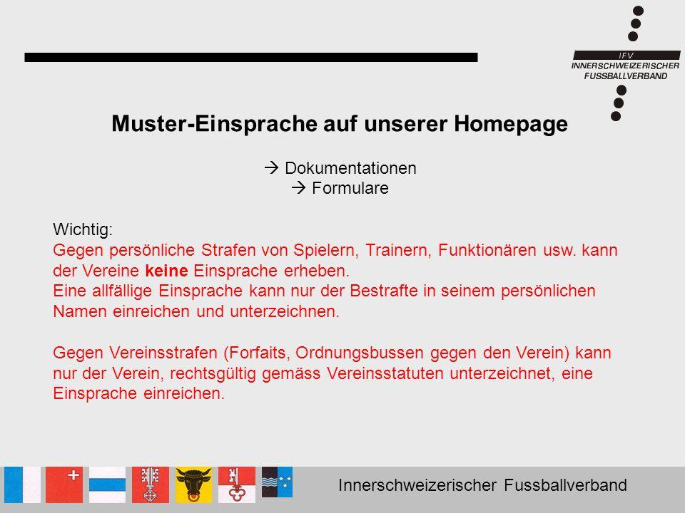 Muster-Einsprache auf unserer Homepage