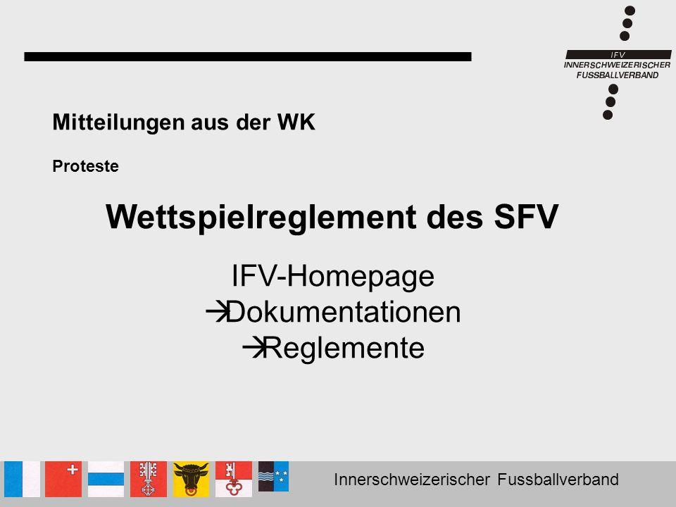 Wettspielreglement des SFV