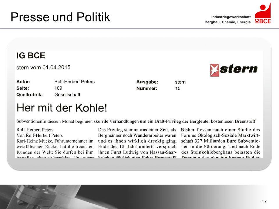 Presse und Politik