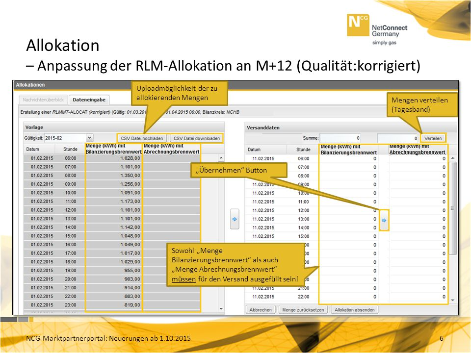 Allokation – Anpassung der RLM-Allokation an M+12 (Qualität:korrigiert)