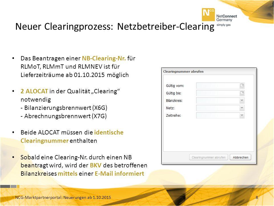 Neuer Clearingprozess: Netzbetreiber-Clearing