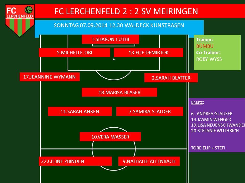 FC LERCHENFELD 2 : 2 SV MEIRINGEN