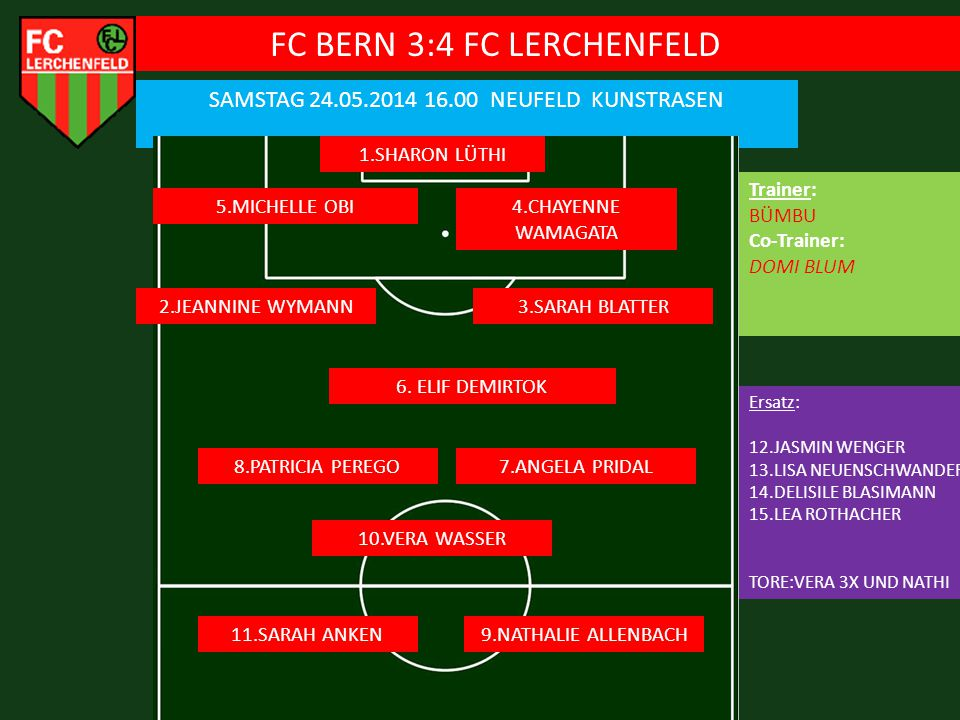FC BERN 3:4 FC LERCHENFELD