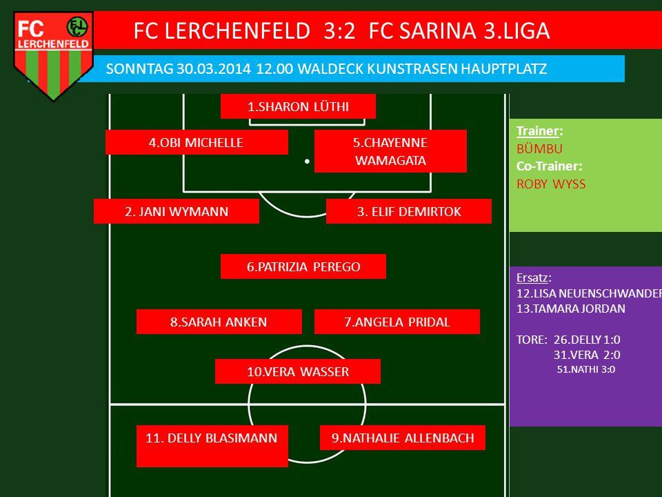 FC LERCHENFELD 3:2 FC SARINA 3.LIGA