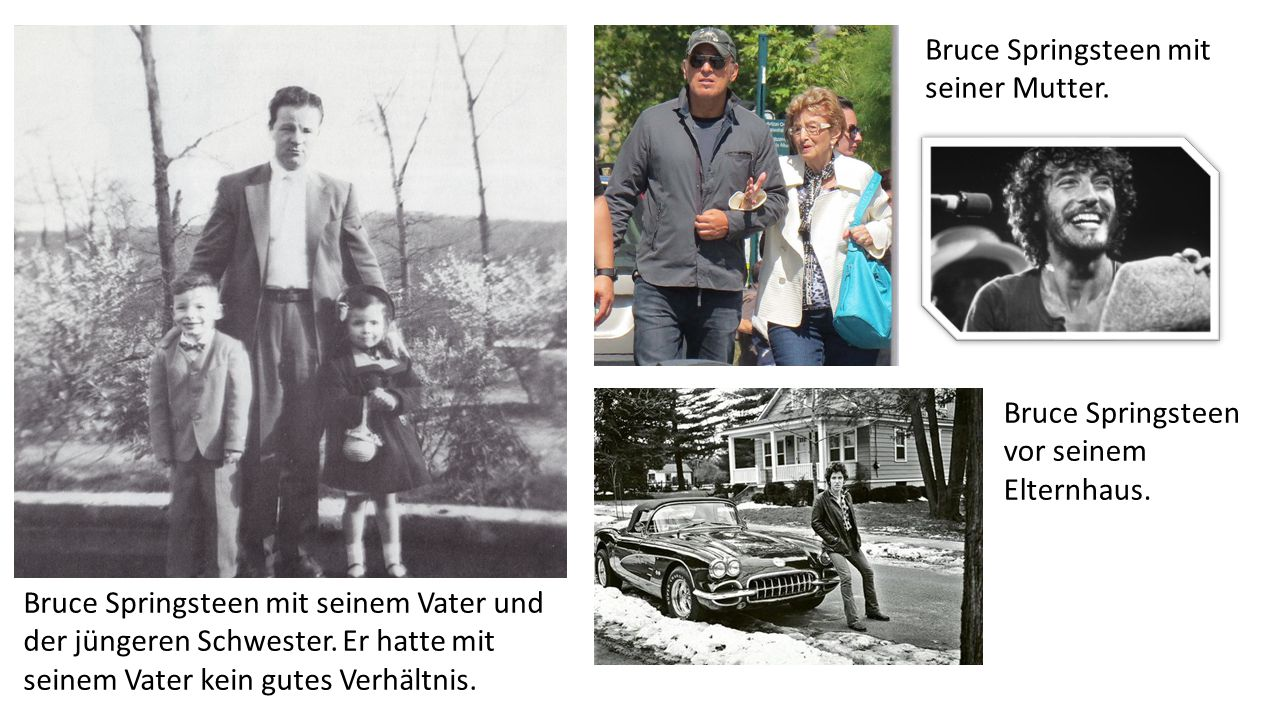 Bruce Springsteen mit seiner Mutter.