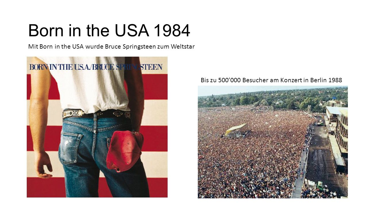 Born in the USA 1984 Mit Born in the USA wurde Bruce Springsteen zum Weltstar.