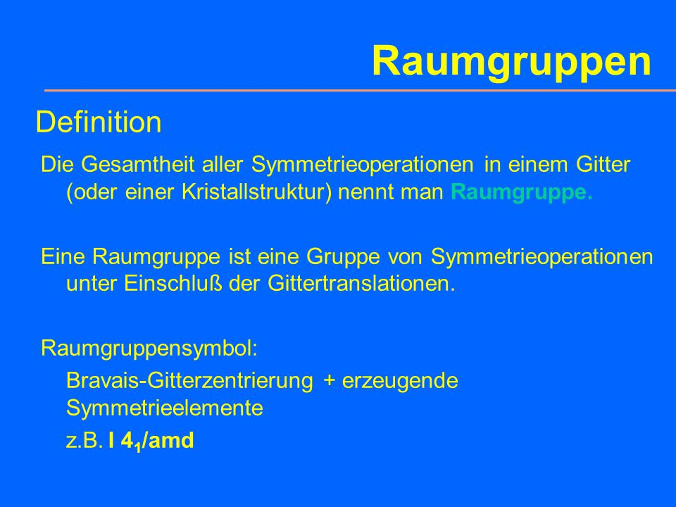 Raumgruppen Definition