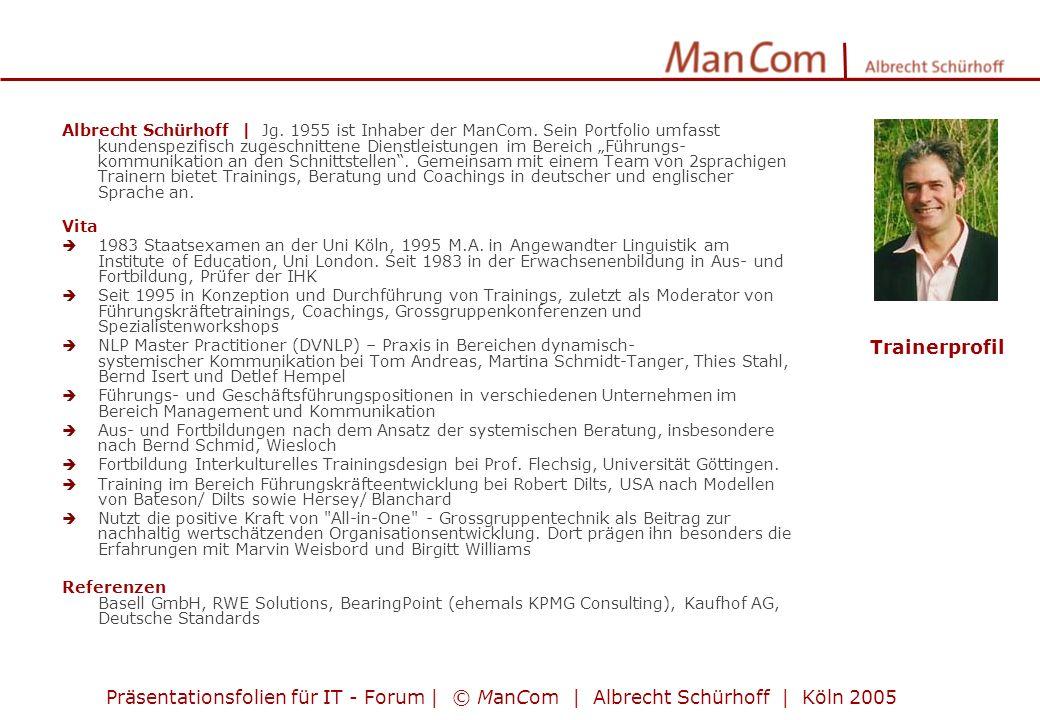 Albrecht Schürhoff | Jg. 1955 ist Inhaber der ManCom