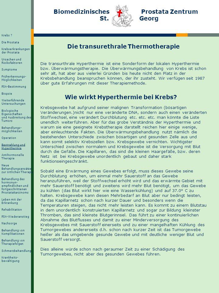Operation, Bestrahlung und Hyperthermie Therapiefolgen im Vergleich