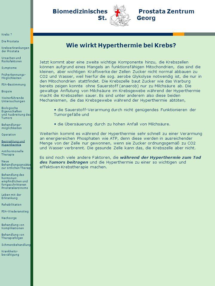 Die transurethrale Thermotherapie Wie wirkt Hyperthermie bei Krebs