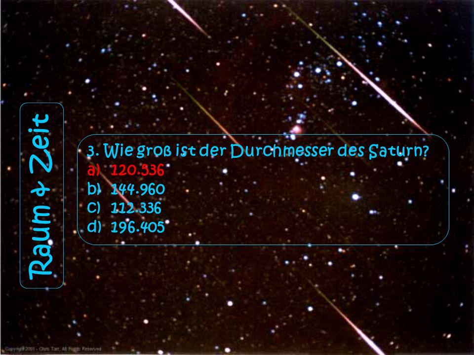 Raum & Zeit 3. Wie groß ist der Durchmesser des Saturn 120.536