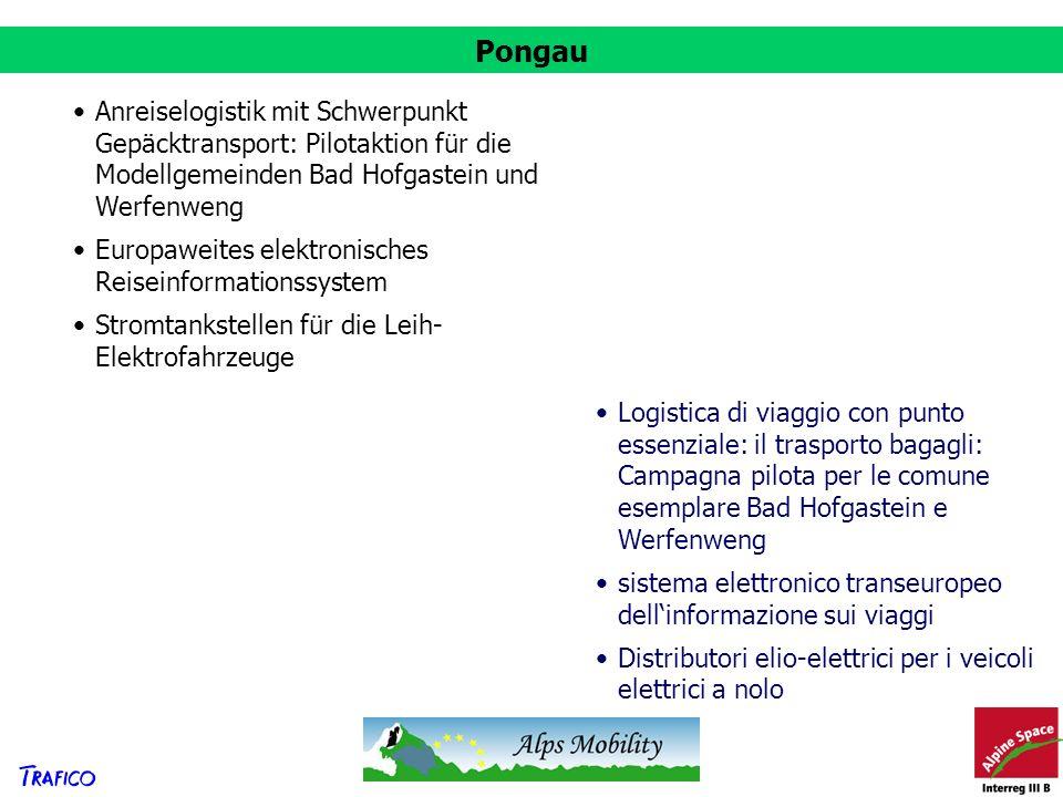 Pongau Anreiselogistik mit Schwerpunkt Gepäcktransport: Pilotaktion für die Modellgemeinden Bad Hofgastein und Werfenweng.