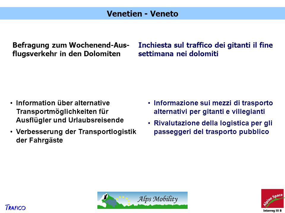 Venetien - Veneto Befragung zum Wochenend-Aus-flugsverkehr in den Dolomiten. Inchiesta sul traffico dei gitanti il fine settimana nei dolomiti.