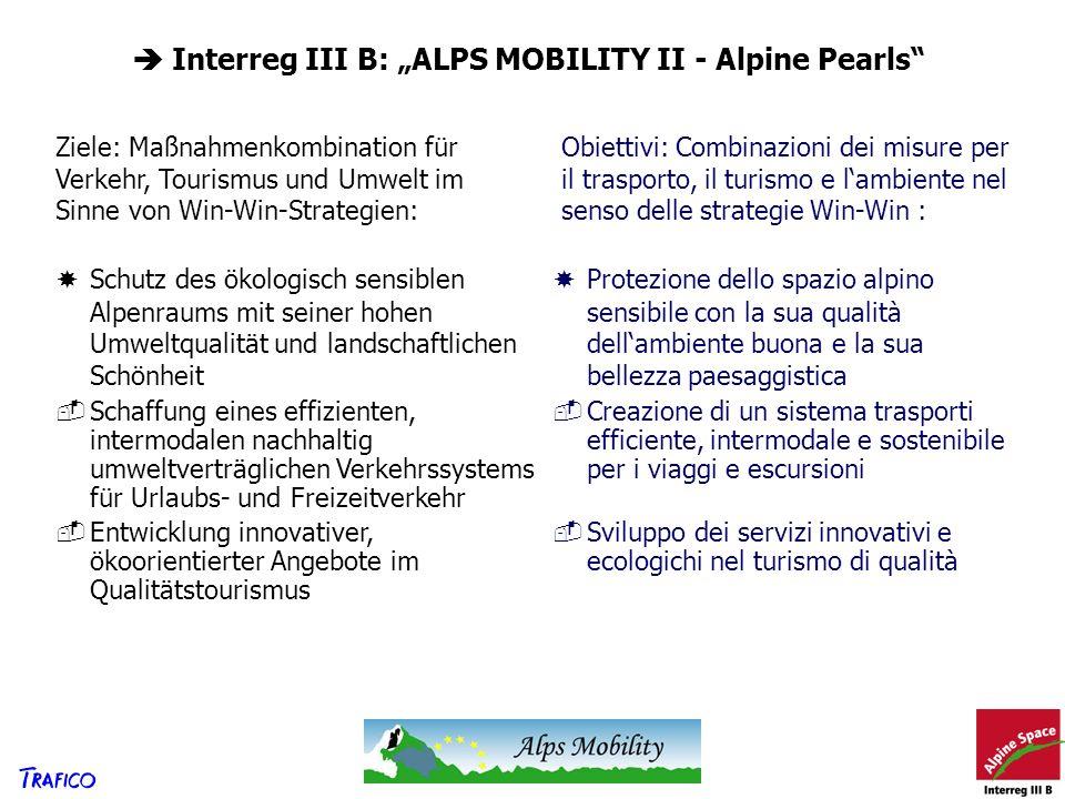 " Interreg III B: ""ALPS MOBILITY II - Alpine Pearls"