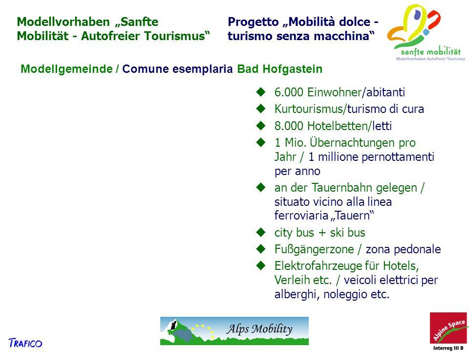 """Modellvorhaben """"Sanfte Mobilität - Autofreier Tourismus"""
